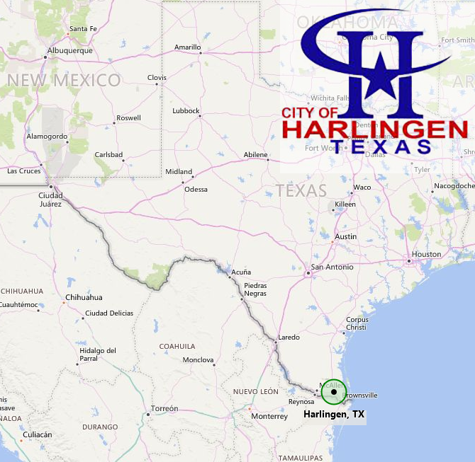 City of Harlingen Map and City Logo