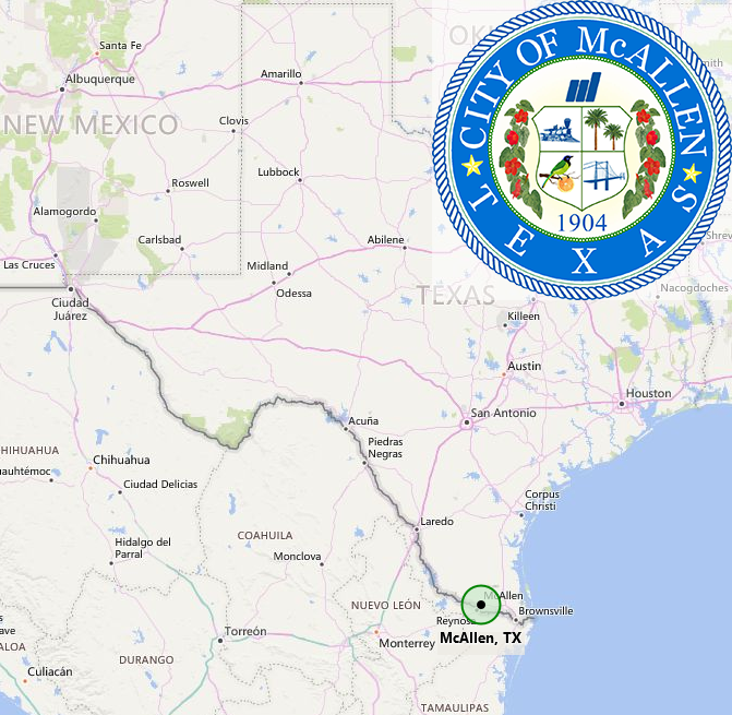 City of McAllen Map and City Logo